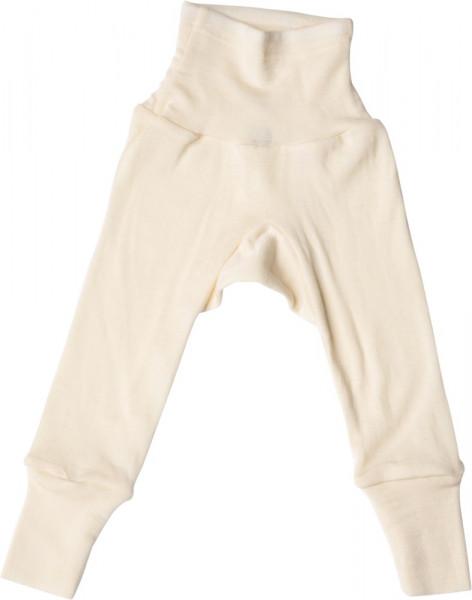 Cosilana Baby Hose - lang mit Bund Wolle/Seide