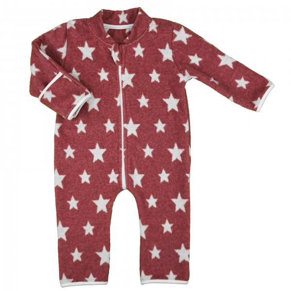 """carlina - Kuschliger Overall """"Stars"""" (beere od. jeans) mit praktischen Klappbündchen"""