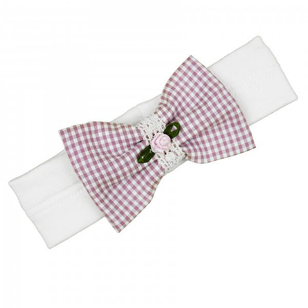 carlina - Süßes Stirnband (rosa od. orchid) aus Vichy-Karo
