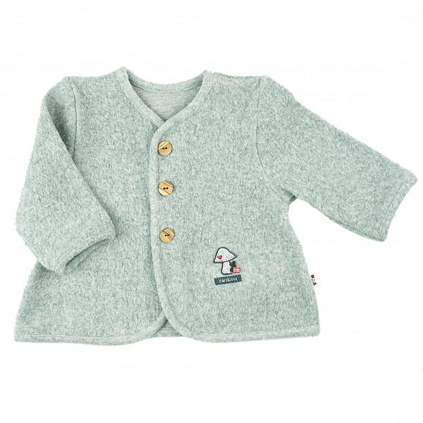 carlina - Trendige Jacke (graumeliert) in superweicher Teddy-Qualität