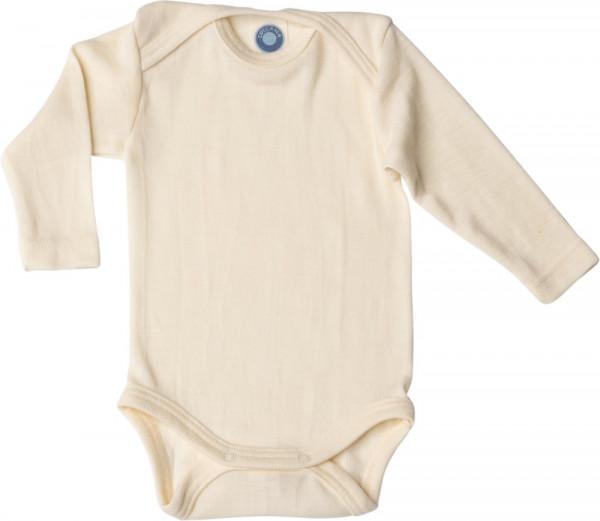 Cosilana Baby-Body - Langarm - Wolle/Seide