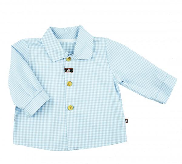 carlina - Stylisches Babyhemd (hellblau od. oliv) mit Spitzkragen