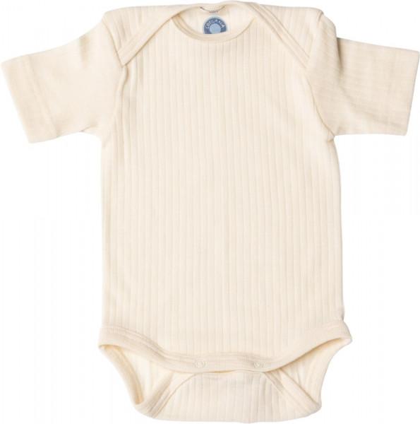 Cosilana Baby-Body - Kurzarm - Seide/Wolle-Baumwolle