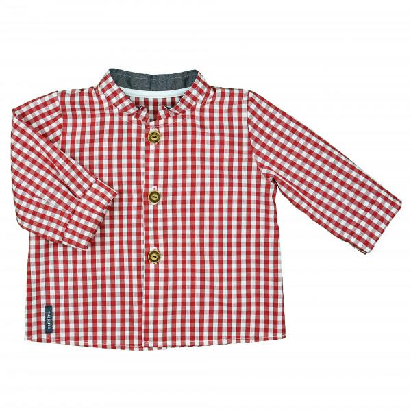 carlina - Klassisch schönes Babyhemd (kirsche od. navy) mit Stehkragen